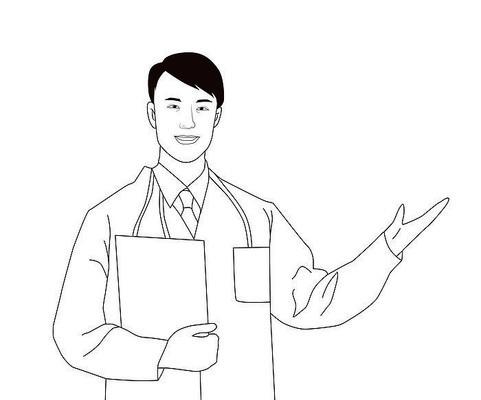 原创医生半身插画设计