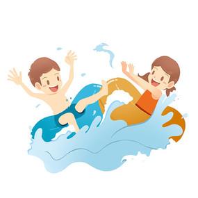 泳池玩耍主题元素