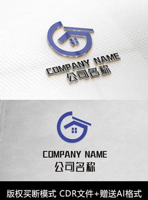 G字母logo标志房地产商标设计