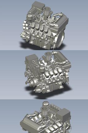 火车的柴油发动机PROE设计
