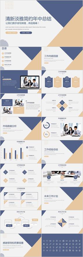 2021商务企业工作总结商务风PPT模板