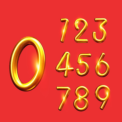 创意金色数字
