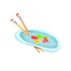 水彩调色盘