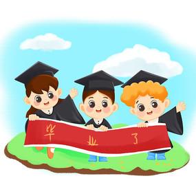 儿童毕业素材卡通