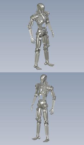 仿人机器人骨架模型