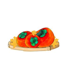 秋天的柿子红色秋天丰收