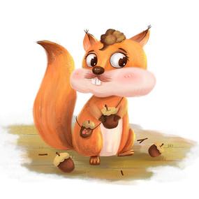 秋天小松鼠