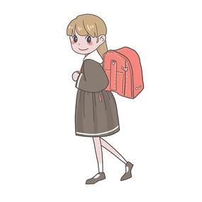 背书包上学