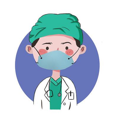 手绘卡通形象医生