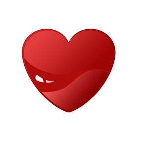 卡通红色爱心