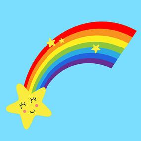 创意卡通可爱彩虹矢量素材