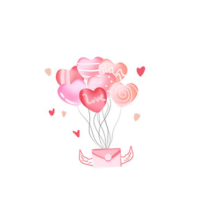 七夕绑在气球上的告白情书