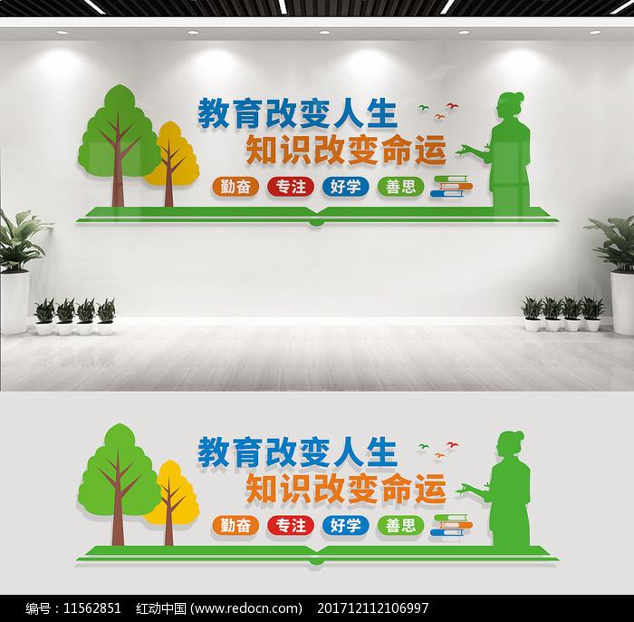 校园文化墙宣传标语图片