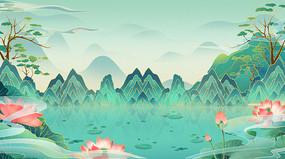 国潮插画背景中国风设计素材