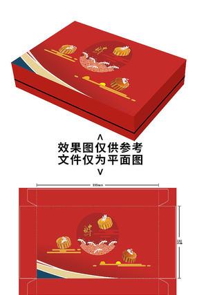 红色中秋月饼包装