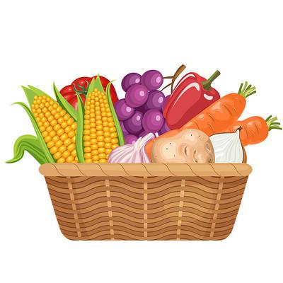 秋季秋天丰收的农作物产品png素材