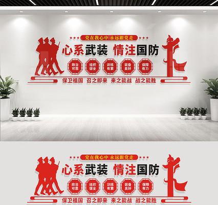 人民武装部文化墙标语