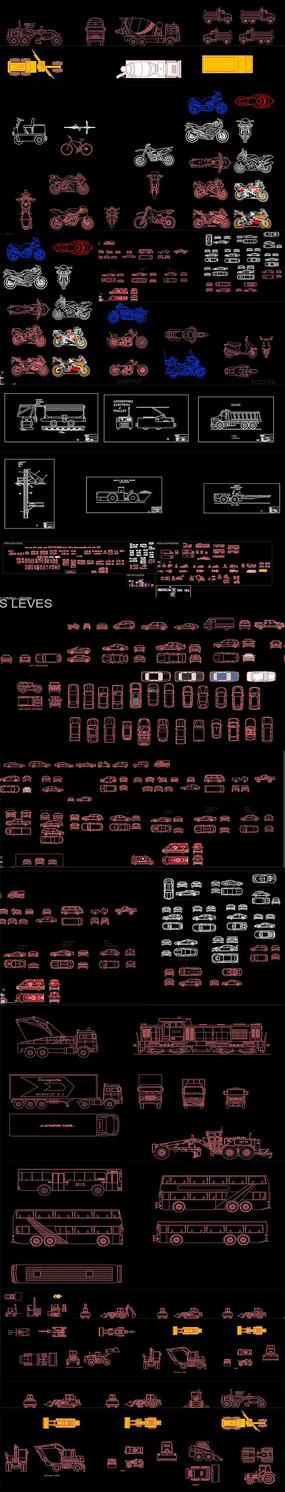 机械车辆CAD图库