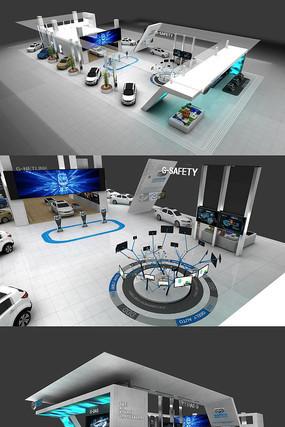 汽车展厅CAD施工图效果图