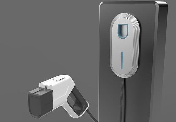 新能源汽车充电桩3D模型