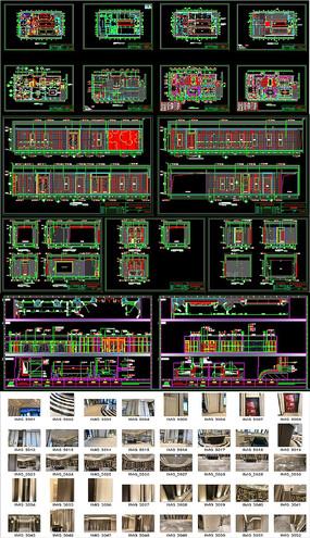 高端售楼部会所施工图CAD