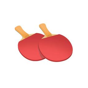 手绘乒乓球拍元素