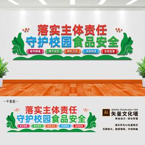 校园食品安全宣传文化墙