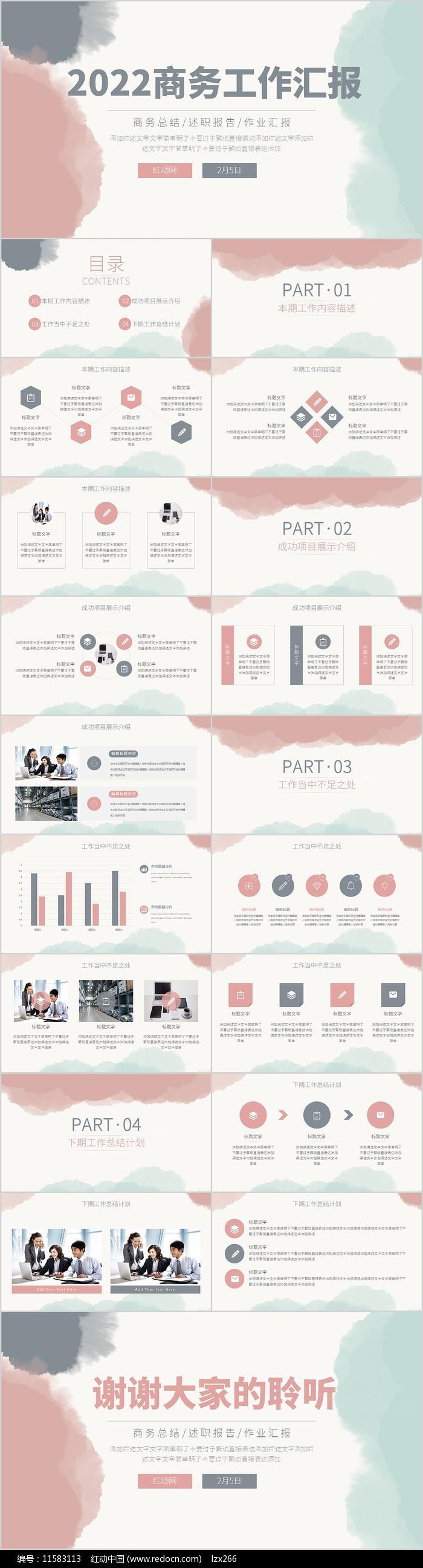 2022商务工作汇报产品公司PPT模板图片