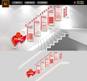 2021全国两会政府工作报告楼梯文化墙