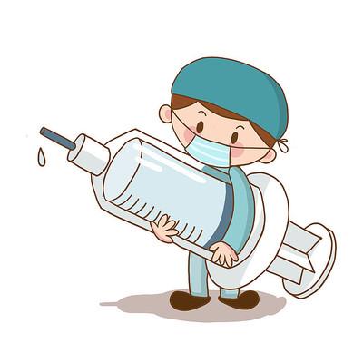 创意疫情医生护士拿针管