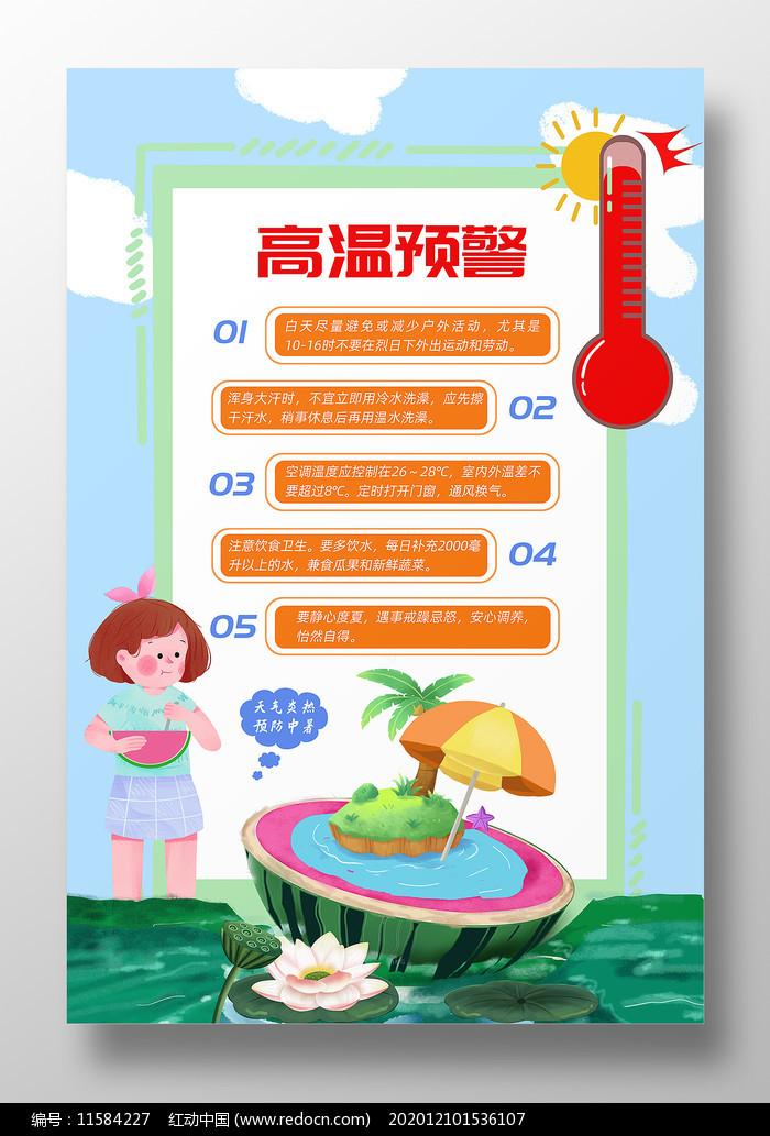 高温预警夏季防暑防晒知识图片