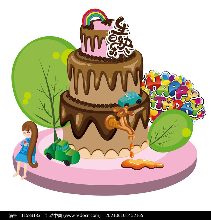 生日蛋糕创意组合图片