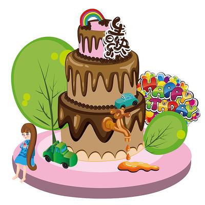 生日蛋糕创意组合
