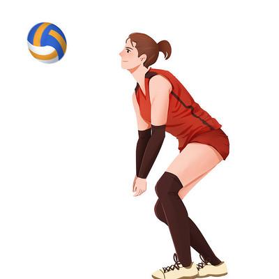 运动会奥运会人物女排运动员素材