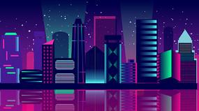 炫彩建筑夜景