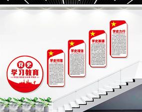 党史学习教育楼梯文化墙展板