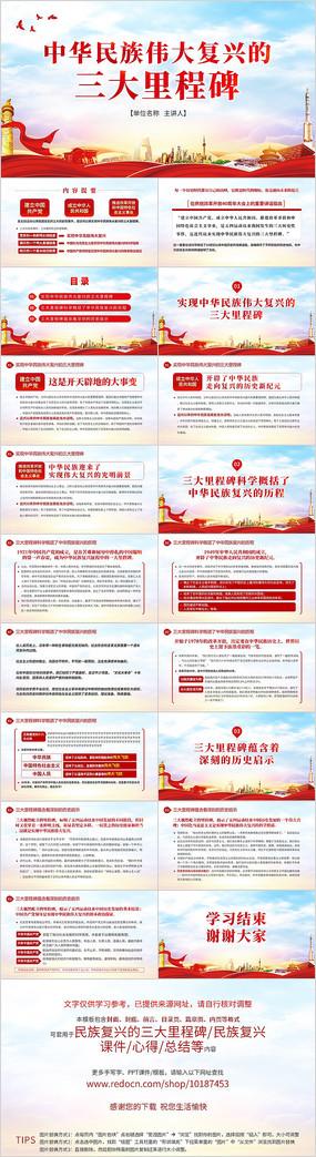 中华民族伟大复兴的三大里程碑PPT