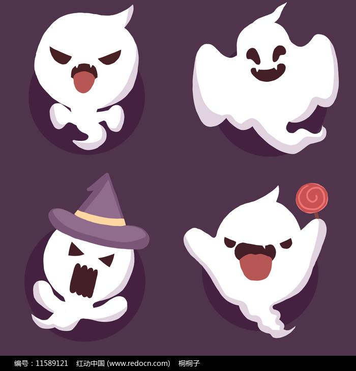 创意原创中元节卡通幽灵图片
