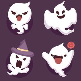 创意原创中元节卡通幽灵