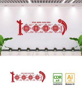党支部社区党史学习教育文化墙设计