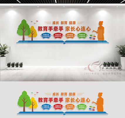 家长学校宣传文化墙