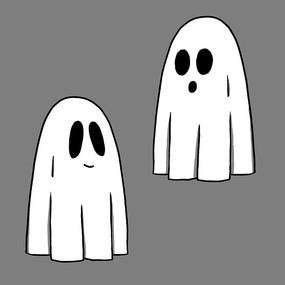 卡通幽灵元素
