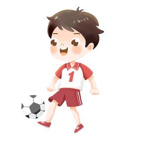 踢足球的儿童