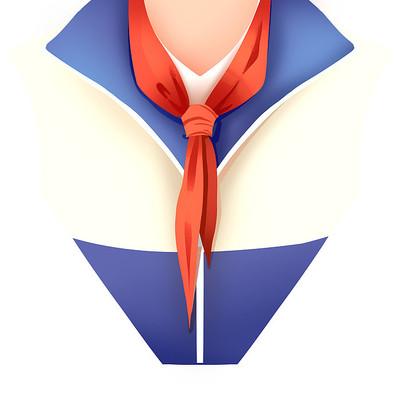 开学季创意学生红领巾素材