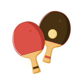 手绘乒乓球球拍