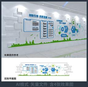 企业介绍文化背景墙设计