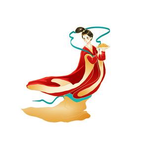 卡通手绘中秋节嫦娥设计元素