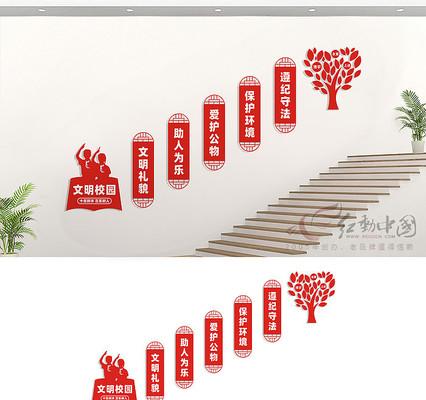 校园楼道文化墙展板