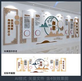 调解室文化墙设计