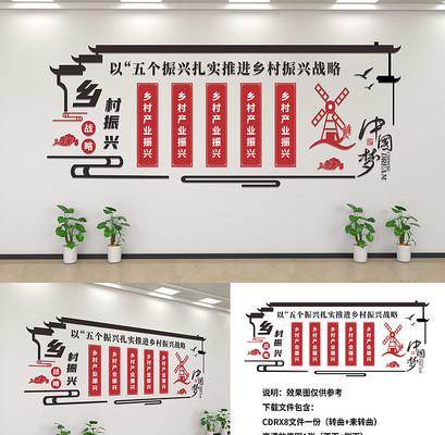 乡村振兴战略宣传文化墙